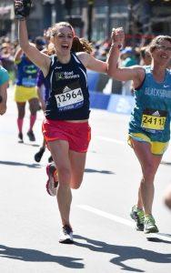 Alison Smith at the 2016 Boston Marathon
